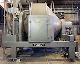 Rotary Batch Mixer Blends Wood Powders for