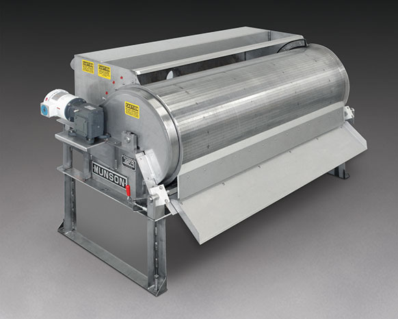 Rotary Drum Screen Separates Solids from Waste