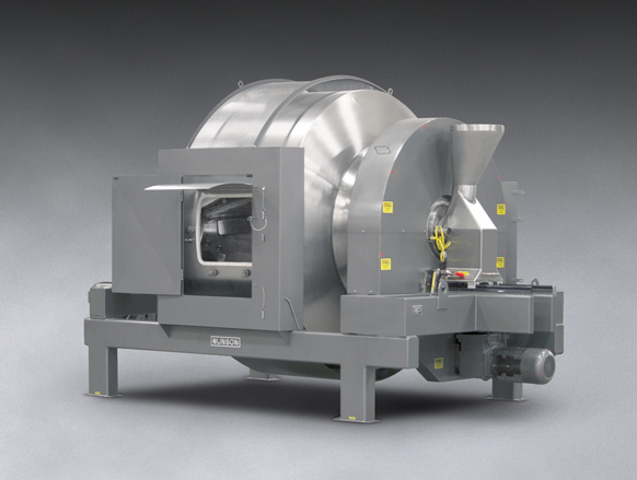 rotary-batch-mixer-blends-dry-solids-liquid-additions