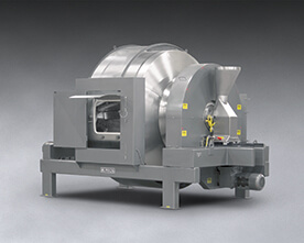 Rotary Batch Mixer Blends Dry Solids with